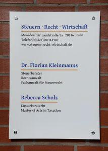 Sozietät Dr. Kleinmanns & Scholz — Steuern · Recht · Wirtschaft