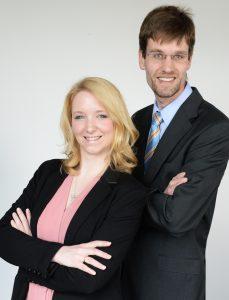 Dr. Florian Kleinmanns und Rebecca Scholz